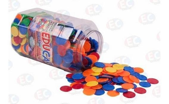 Edu-016 Ficha Matemática Plástico Bote 1000 Piezas Eduplas
