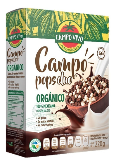 Cereal Organico Campo Pops Duo Campo Vivo 220 Gr