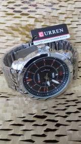 Relógio Curren C/ Calendário, Cromado Cod. 00367