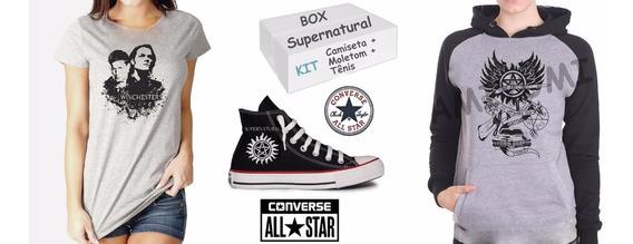 Box Supernatural Kit Tênis + Moletom + Camiseta Brinde