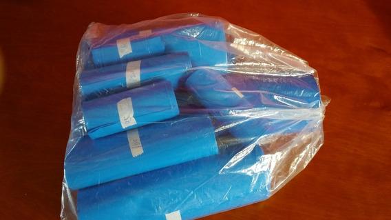 Kit Com 10m De Tubo Termo Retrátil Azul Pvc