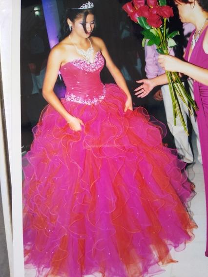 Vestido Para 15 Años Usado.Hermoso Vestido Importado.