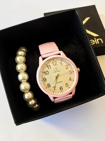 Relógios Femininos De Pulso Na Cor: Preto Ou Rosa Claro