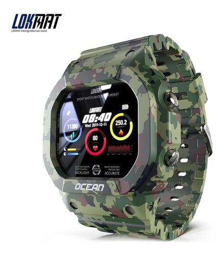Imagen 1 de 9 de Lokmat Smart Watch Monitor De Ritmo Cardíaco Y Presión Art