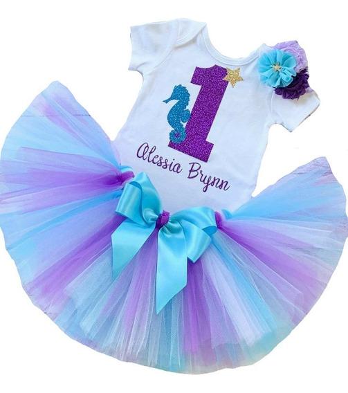 Tutú Para Bebé De Sirenita Con Pañalero Personalizado