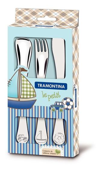 Cubiertos P/bebe Tramontina Azul 3pzs 66973/000