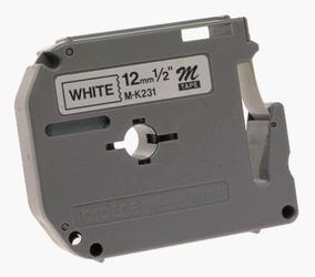 Fita Para Rotulador Brother M231 (12mm X 8 Metros) - Branca