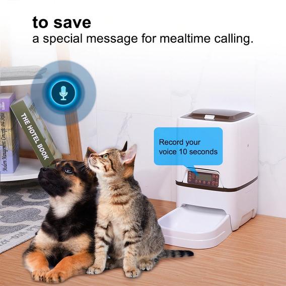 Comedouro Alimentador Automático Cão Gato Digital C/ Chamada