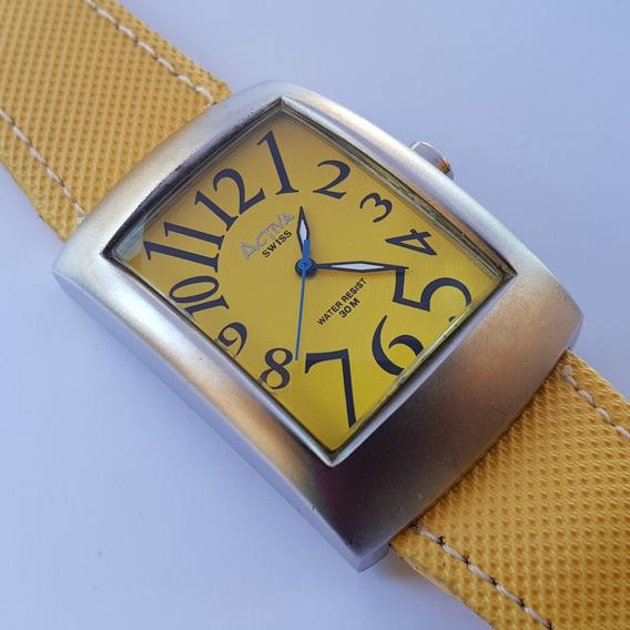 Relógio Activa Cuadro Sl052-004 Swiss Movement