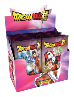 Dragon Ball Super Tarjetas Caja 120 Estampas En 24 Sobres