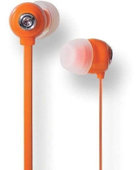 10 Unidades - Fone De Ouvido Intra- Auricular Laranja