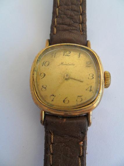 Relógio De Pulso Mondaine A Corda Antigo 17 Rubis Dourado