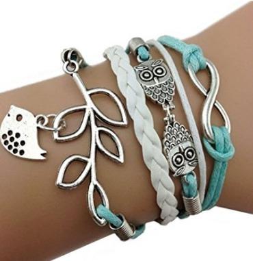 Bracelete Coruja Azul - Glam0068