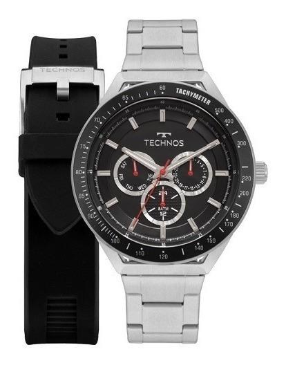 Relógio Technos Masculino Skymaster 6p29ajy/t1p + Pulseira