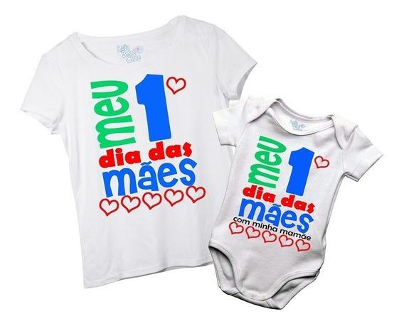 Kit Meu Primeiro Dia Das Mães Presente Mãe Bebê Menino Body