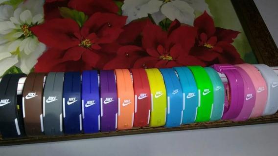 Relógio Led Digital Sport Nike Pulseira Silicone