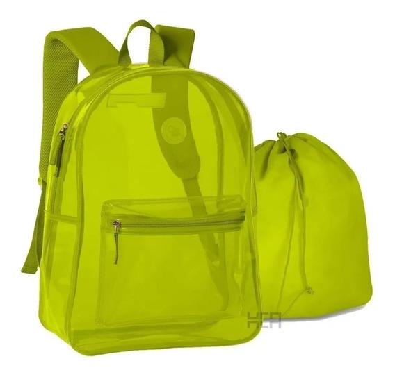 Mochila Neon Clio Style Transparente
