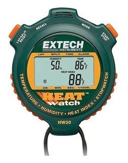 Cronómetro Profesional Extech Hw30, Temperatura Y Humedad