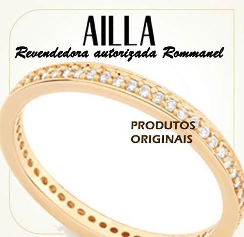 Rommanel Aliança Anel F Ouro 18k Aparador Compromisso 511880