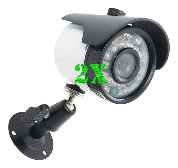 Kit C/ 2 Cameras Bullet Cftv Color 700 Linhas 3,6mm 20m