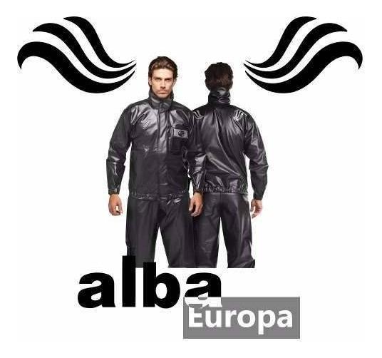 Capa De Chuva Motoqueiro Alba Europa Pvc M/p/gg/g/eg