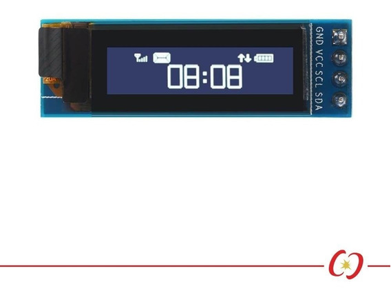 Display Oled Branco 128x32 Pixel 0.91 Polegadas 4 Pinos I2c