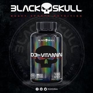 Vitamina D3 - 100 Caps 2000ui Black Skull