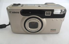 Câmera Máquina Fotográfica Antiga Canon Prima Zoom 60 Coleça