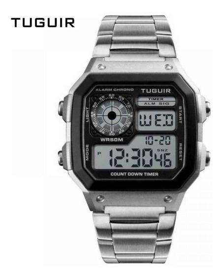 Relógio Digital Modelo Retrô Com 1 Ano De Garantia - Tg1335