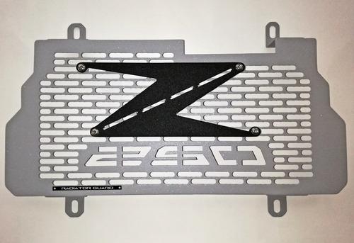 Protector De Radiador Kawasaki Z250 Gris Plata En Oferta