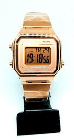 Relógio Feminino Casio B650w Unissex Vintage Rose