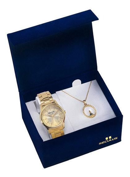 Relógio Seculus Feminino 28654lpsvda1 Aparecida + Semijóia