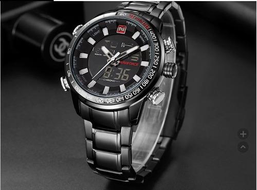 Relógios Naviforce 9093 Marca De Luxo De Aço Completo !