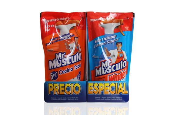 Mr Músculo Cocina Doypack 500ml + Windex Doypack 500ml