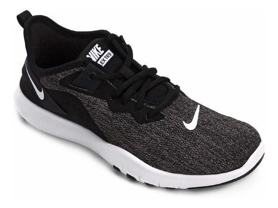 Tênis Nike Flex Preto E Branco Usado Uma Única Vez Número 37