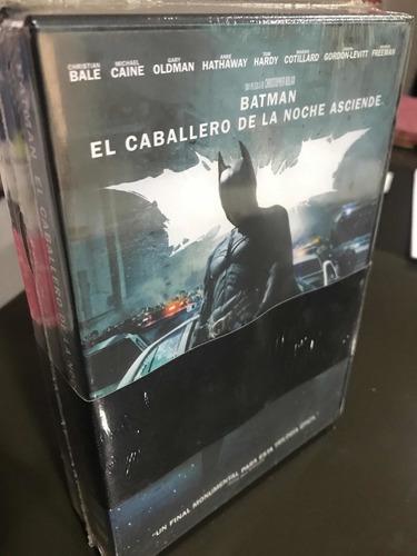 Imagen 1 de 2 de Dvd Pack X 3-batman Inicia-caballero De La Noche Y Asciende