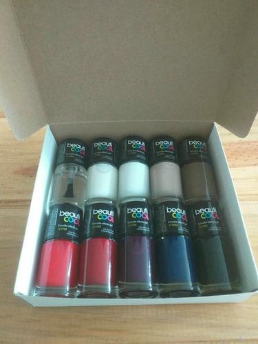 Beauticool Box - 10 Esmaltes Efecto Gel Colores A Elección.