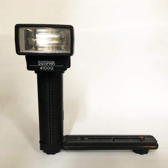 Sunpak 4100g Flash Antigo Universal Para Câmera Fotografia