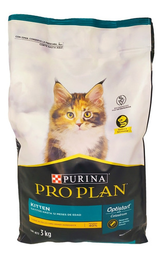 Imagen 1 de 2 de Alimento Gato Cachorro Pro Plan Kitten 3 Kg / Mundo Mascota