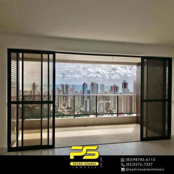 Cobertura Com 4 Dormitórios À Venda, 400 M² Por R$ 1.800.000 - Miramar - João Pessoa/pb - Co0064