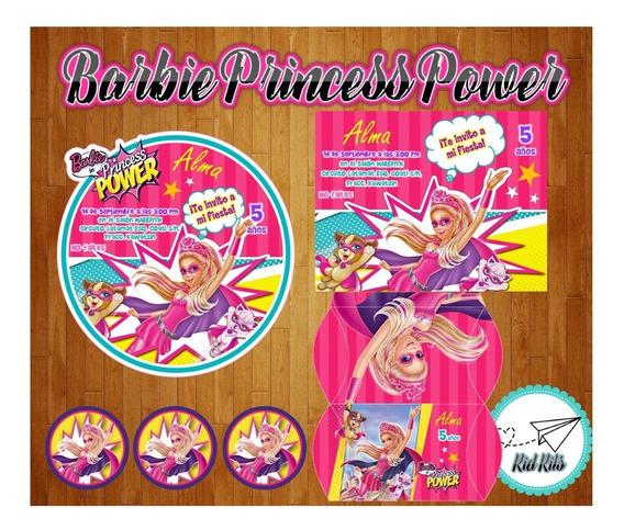 Tarjetas De Invitacion Barbie Otros Kits Imprimibles Para