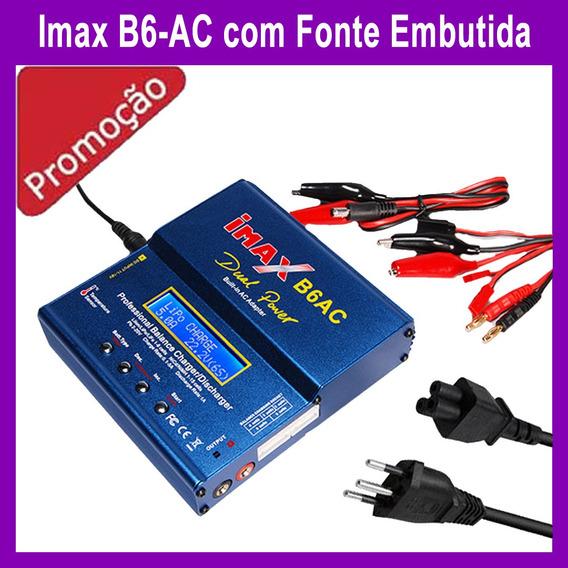 Carregador Bateria Lipo Imax B6-ac Fonte Embutida