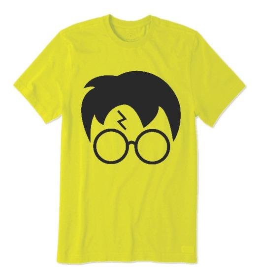 Camiseta Do Harry Potter Filme Hp Rosto Com Cicatriz Hp