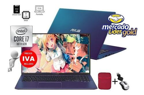 Imagen 1 de 7 de Laptop Portatil Asus X515j Core I7 10ma Ssd 512gb/8gb/15.6