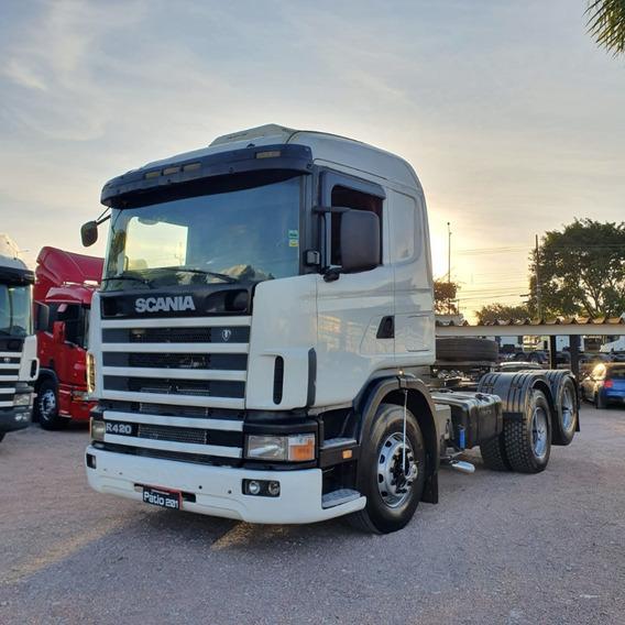 Scania R420 2000 Cavalo Trucado 6x2 - Único Dono