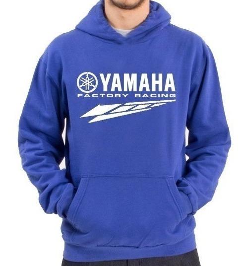 Buzo Canguro Yamaha Azul Liquidacion Oferta Ultimo Talle