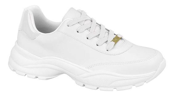 Tenis Vizzano Feminino Sneaker Branco 1331.101 Blogueira