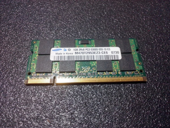 Memória Ram Notebook Samsung 1gb 667mhz Pc2-5300 Ddr2
