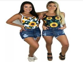 Kit 10 Body Bori Neon Colan Mini Blusa Blusinha Bojo Atacado