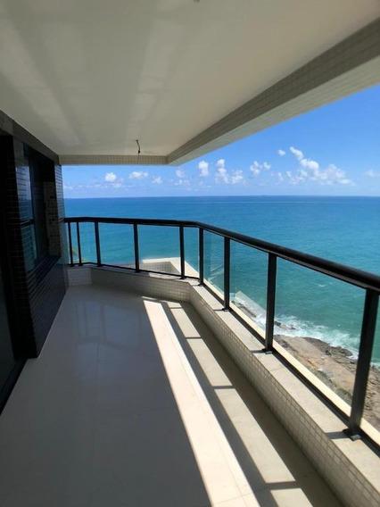 Apartamento De 4 Suítes, 373 M², Vista Mar, Rio Vermelho - Ap0429